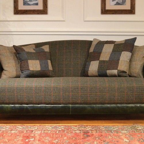 37 best images about harris tweed upcycle on pinterest for Leather and tweed sofa