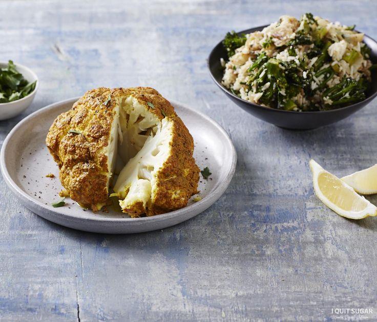 Ever thought about cooking an ENTIRE cauliflower? It's sooooo good! Tandoori Cauliflower with Caramelised Onion Pilaf on our 8-Week Program. – I Quit Sugar