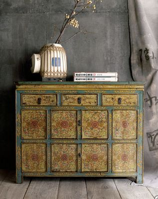 http://www.pinterest.com/joliesarts ∗ »☆Elysian-Interiors ♕Simply divine #Interiordesign ~ Chinese & Asian style Interiors ~Tibetan cabinet