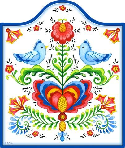 Ceramic Cheeseboard w/ Cork Backing: Lovebirds