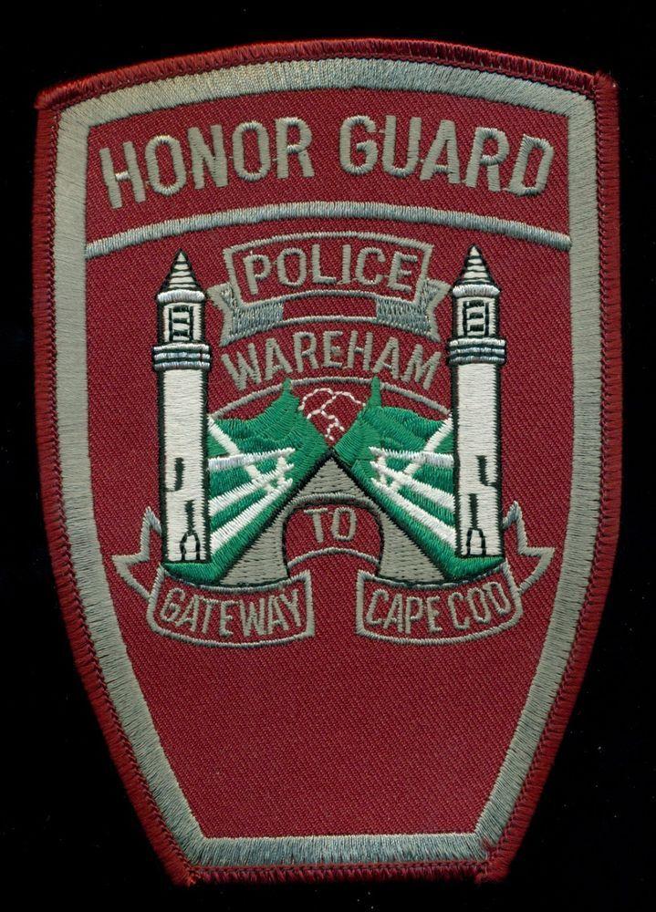 Wareham Police Cape Code Honor Guard Patch RP 3 | eBay