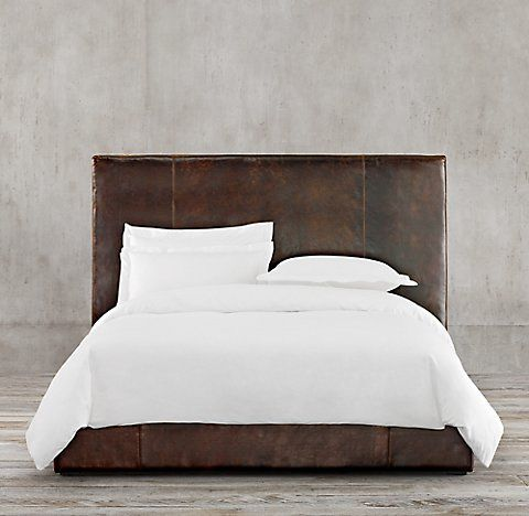 sullivan leather platform bed collection rh