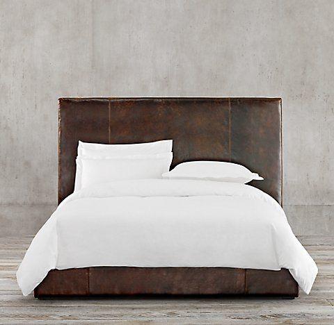 Sullivan Leather Platform Bed Collection | RH