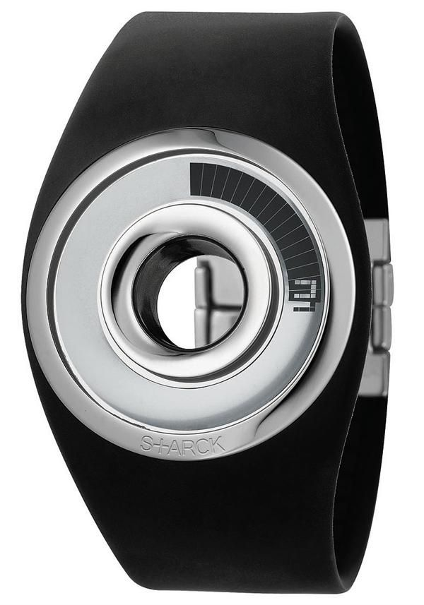 Philippe Starck O-Ring Black Digital Watch
