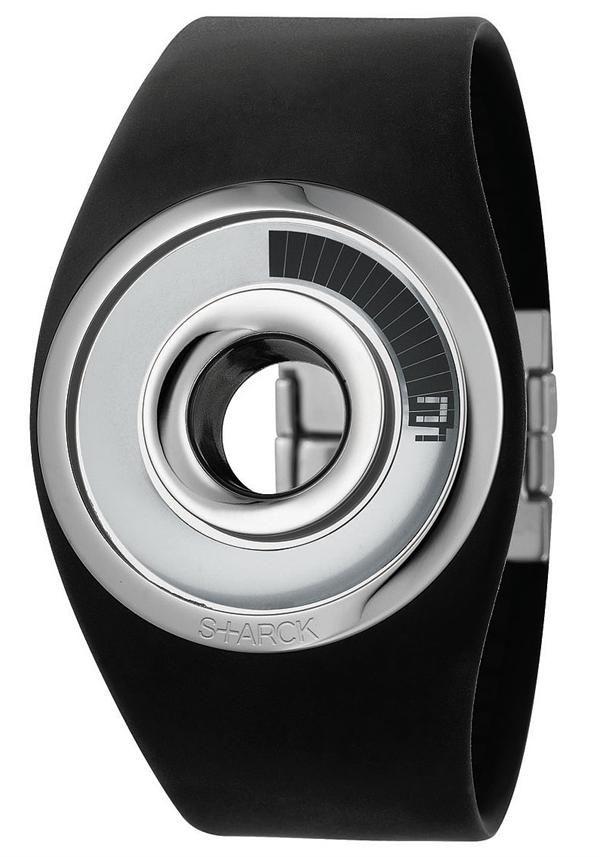 Starck O-Ring Black Digital Watch.