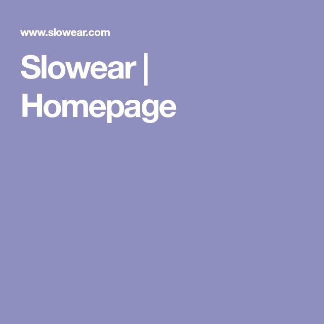 Slowear   Homepage