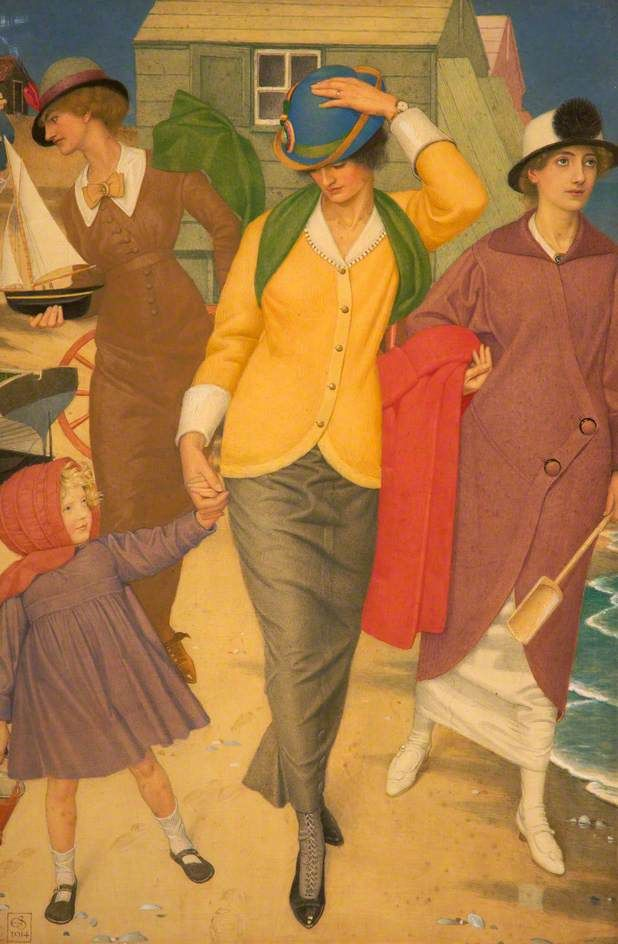 Joseph Edward Southall  - Le long du rivage, 1914