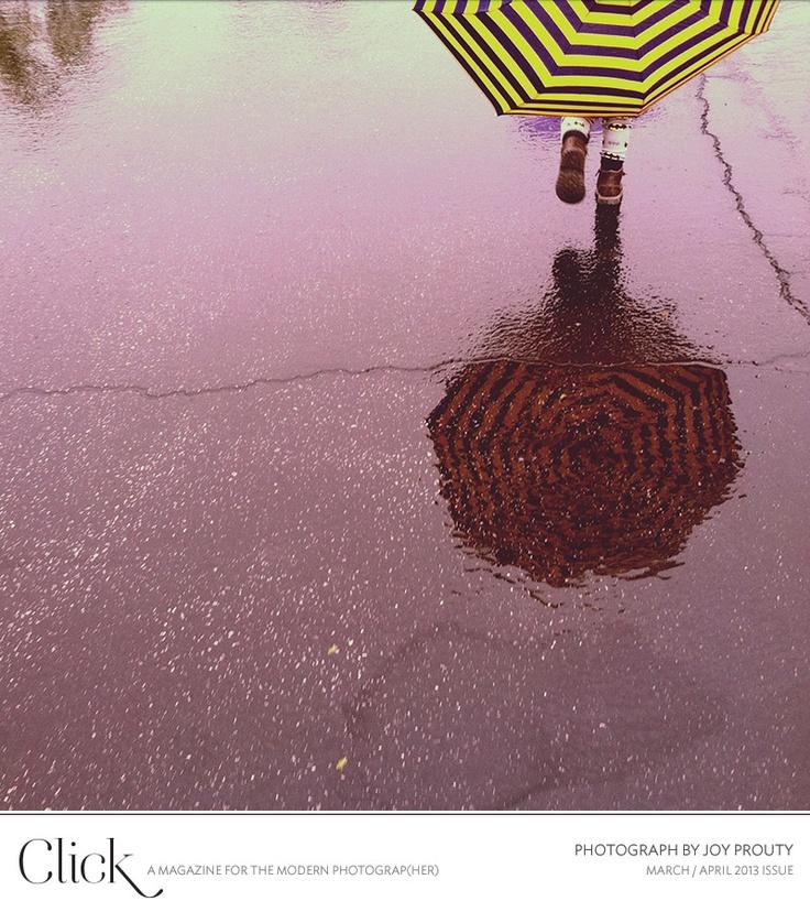 Umbrella reflections.