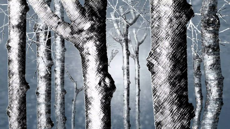 'Charcoal Winter Forest' Animation created with Anime Studio Pro 11 as a GIF for a submission to a Talenthouse Creative invite.