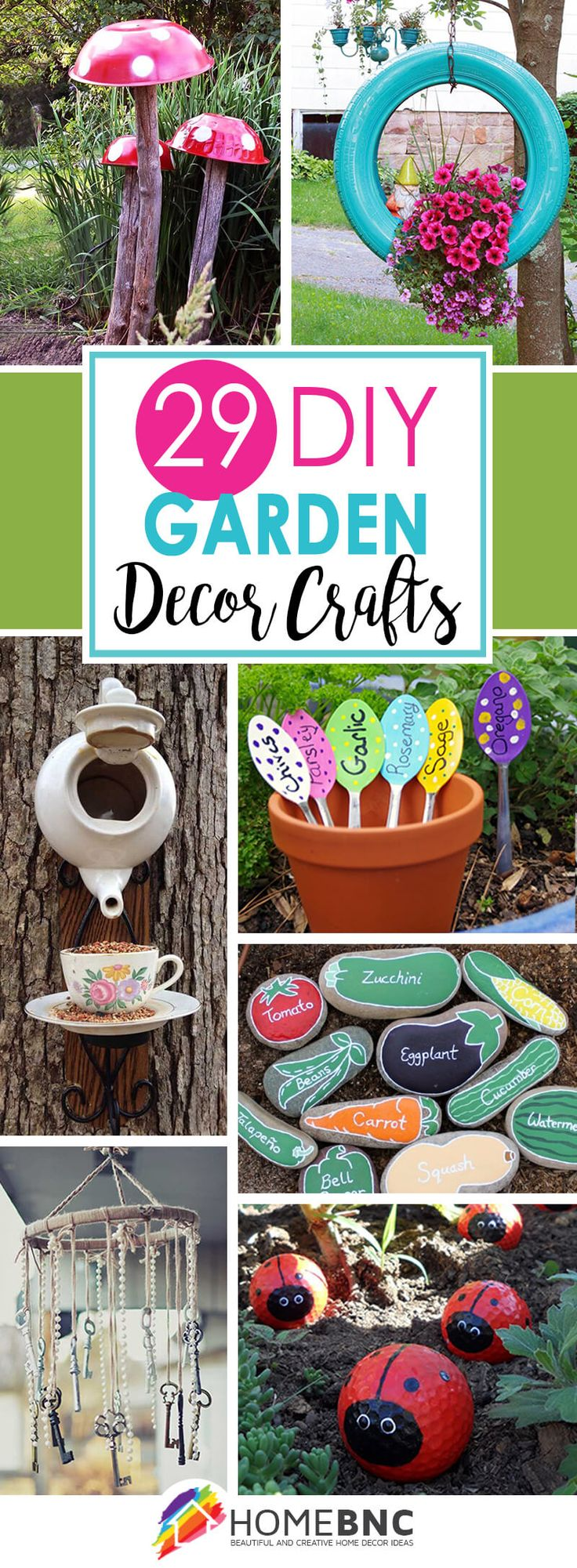 Homemade yard art ideas - 29 Cute Diy Garden Crafts You Can Make For Your Outdoor Space