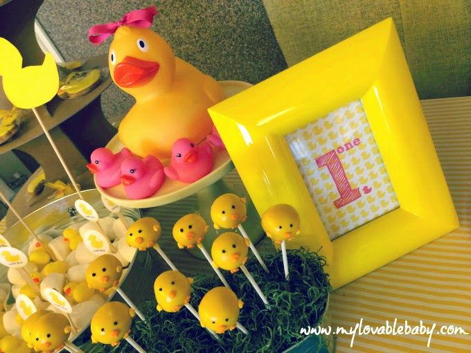#cake #pops #rubber #duck