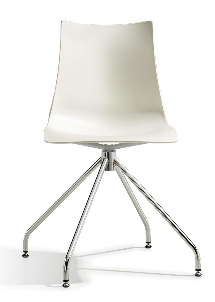 Zebra Tech Twist stoel - Scab - Wit