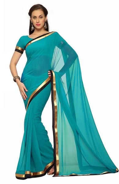 LadyIndia.com # Silk Saree, Beautiful Chiffon Green Saree For Women -Sari, Printed Sarees, Casual Saris, Silk Saree, https://ladyindia.com/collections/ethnic-wear/products/beautiful-chiffon-green-saree-for-women-sari