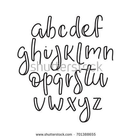 Super simple ABC. English line alphabet. Thin outline lowercase typographic type…