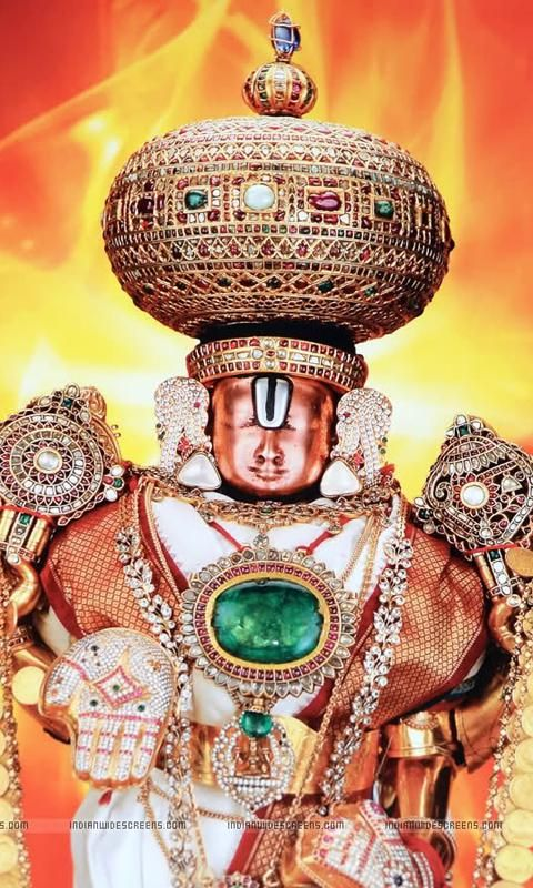 Surya Hd Wallpapers For Mobile Lord Venkateswara Swamy With Jewellery Sri Tirumala