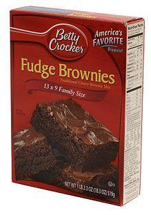 Fake Betty Crocker Brownie Mix