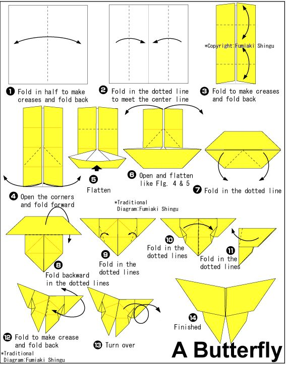 origami butterfly instructions step by step easy