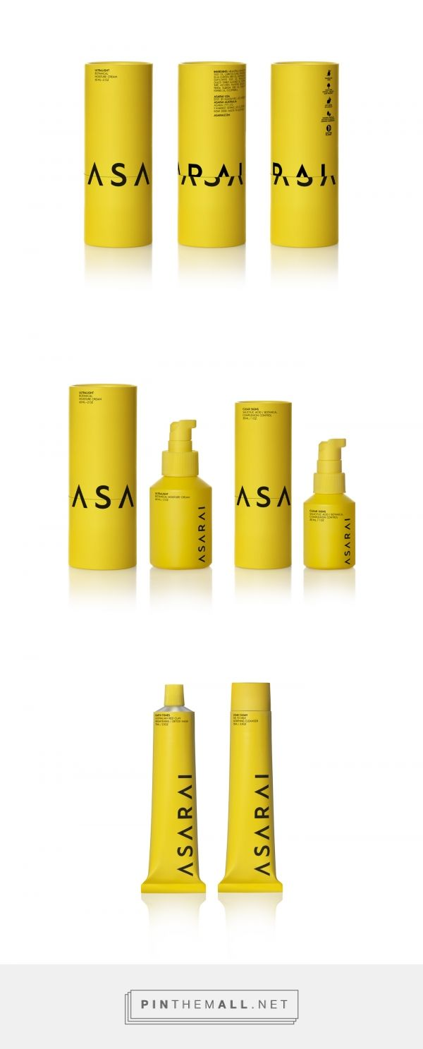 Asarai cosmetics packaging design by Mousegraphics - http://www.packagingoftheworld.com/2017/11/asarai.html