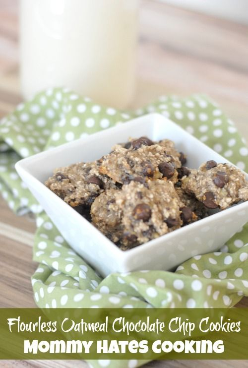 Recipe - Flourless Oatmeal Chocolate Chip Cookies I Mommy Hates Cooking #GlutenFree #Healthy