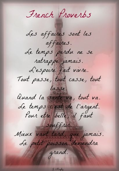 Proverbes. Tour Eiffel. 24mar2014.