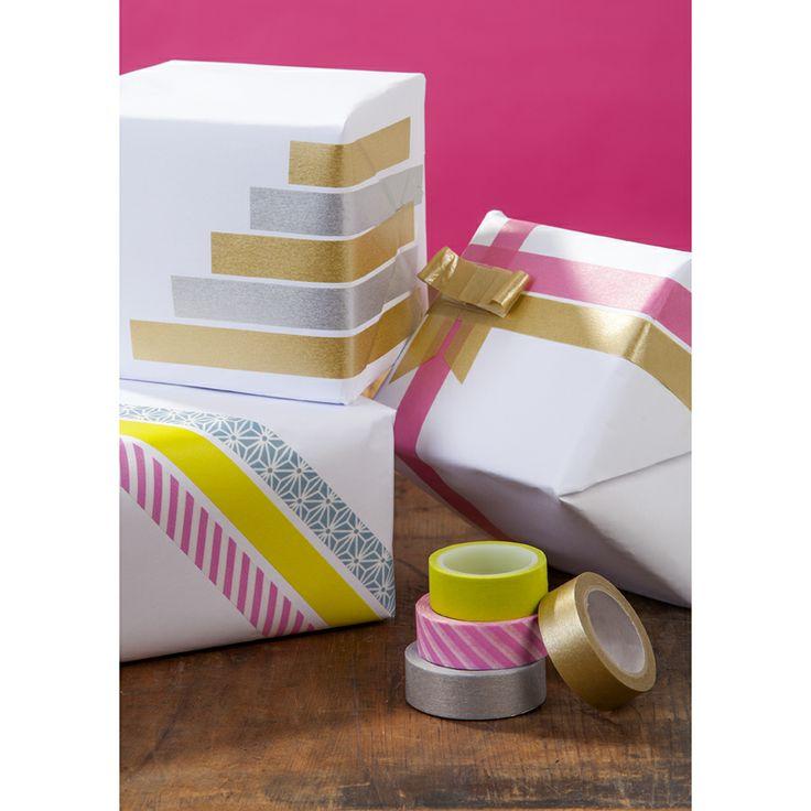 Washi Tape Gift Wrapping / Washi Tape para Envolturas Dekorella Shop - dekorellashop.hu
