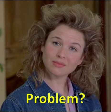 Bridget Jones's Diary (2001) - starring Renee Zellweger as Bridget Jones  This happened to me!  Hairspray, humidity, and the top down does not mix!