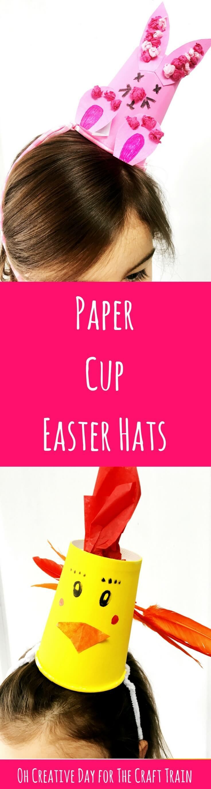 Paper cup Easter hat craft