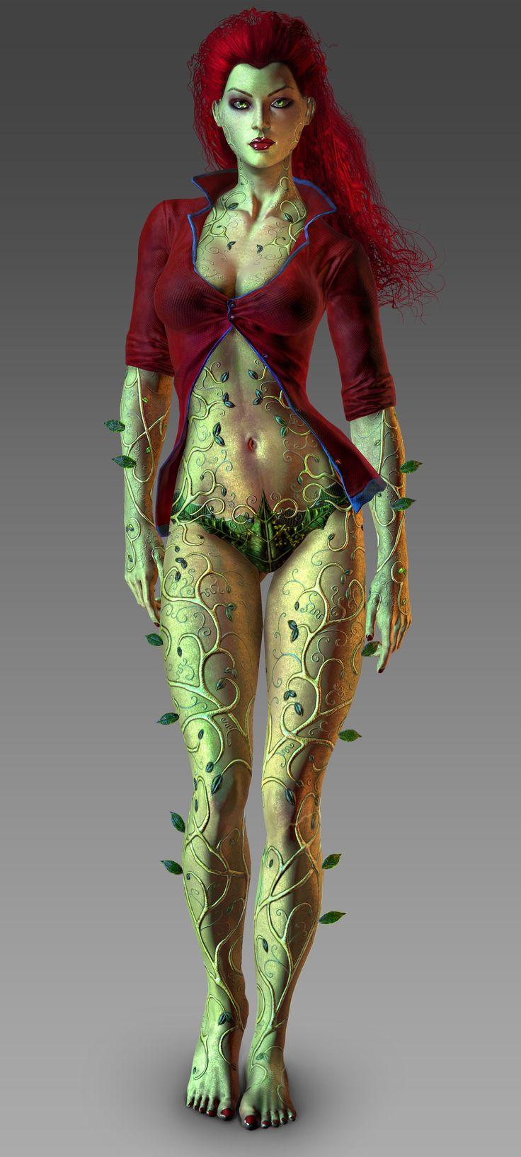 Great costume idea for my best friend. Poison Ivy - Arkham City | For more Villain Love: https://www.pinterest.com/thevioletvixen/villain-love/
