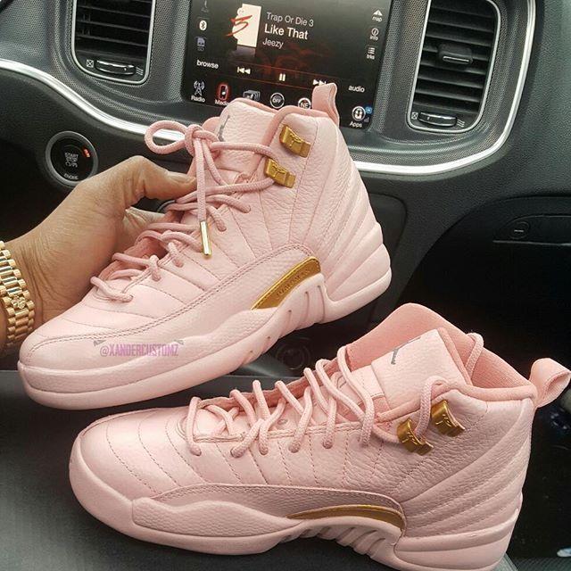 """Xander × Air jordan 12 """"Pink"""""""