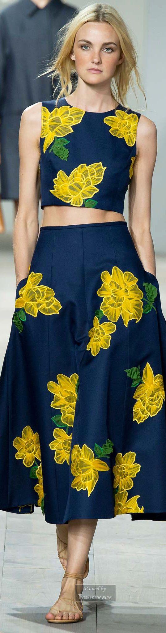 blue+yellow Michael Kors.Spring 2015.