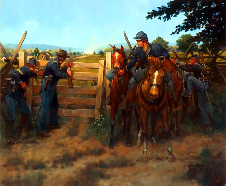 Union troops and fortification | American Civil War Art