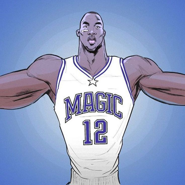 Dwight Howard Orlando Magic Era Illustration