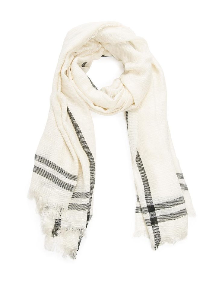 Striped Border Scarf - to keep her warm
