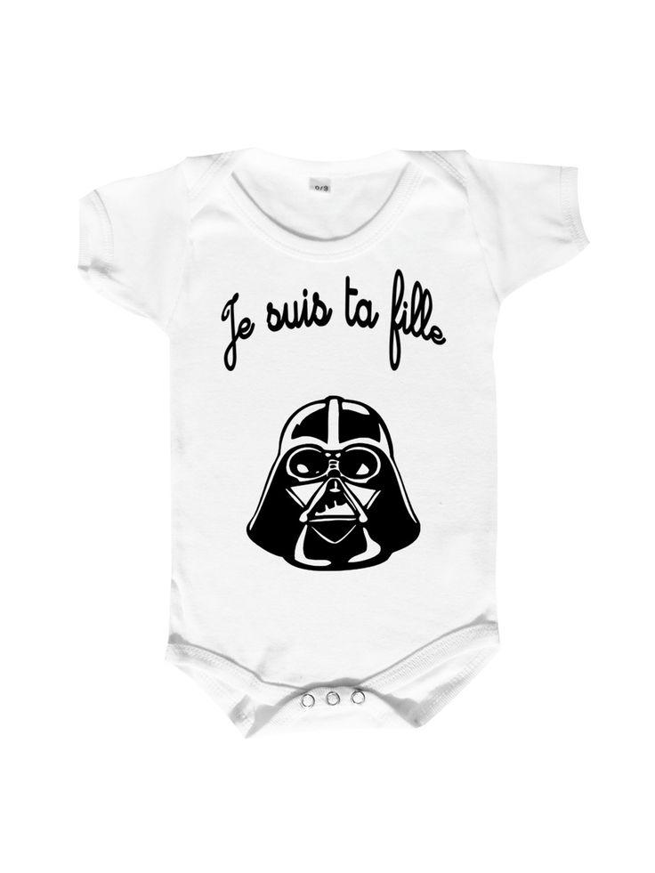 """body dark bébé """"Je suis ta fille"""" : Mode Bébé par monpremierbody"""