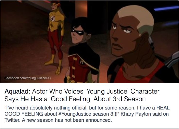 Season 3 of Young Justice may be coming!!! Let's cross our fingers, folks! ~ #KeepBingingYJ