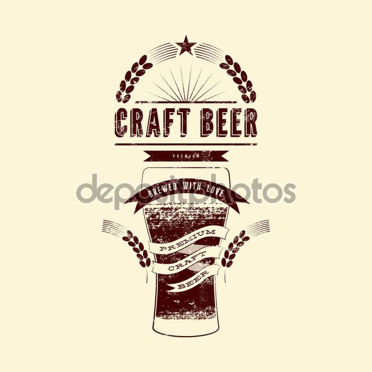 Étiquette de bière artisanale. Affiche de bière style grunge vintage. Illustration vectorielle