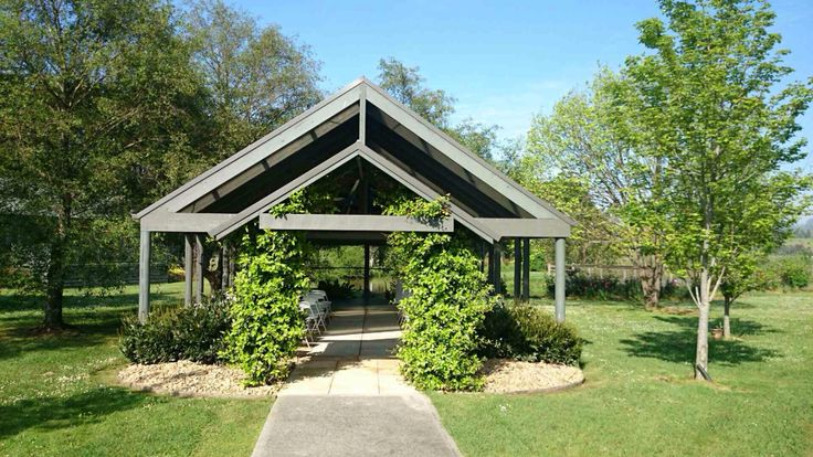 Garden chapel - ready for walking down the aisle