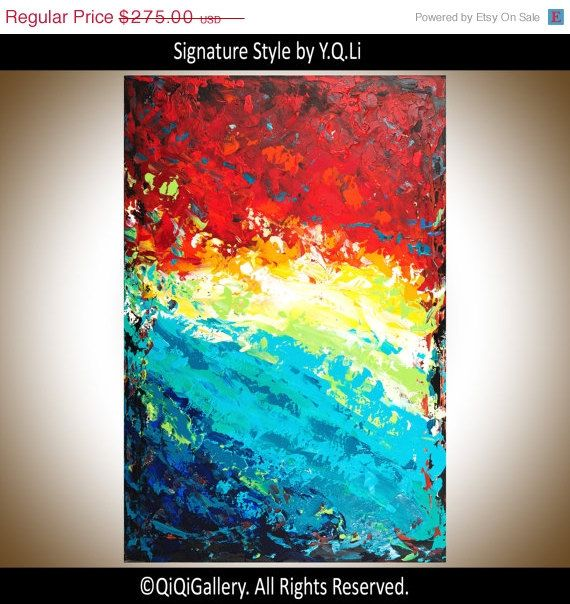 Hey, I found this really awesome Etsy listing at https://www.etsy.com/listing/182069666/sale-abstract-painting-multicolored