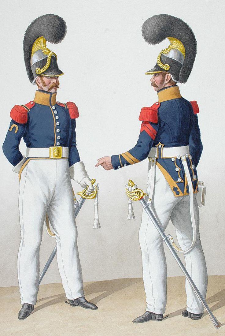 1824. Cuirassiers. Maréchal-Ferrant, Brigadier (6e Régiment - de Condé).