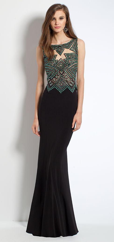 Jersey Dress With Aztec Beaded Bodice #camillelavie