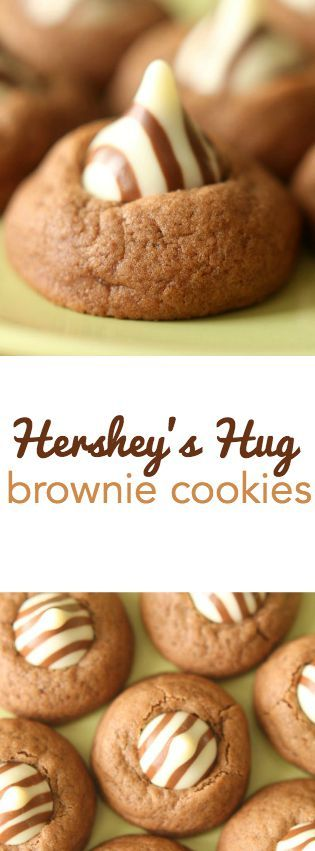 Hershey's Hug Brownie Cookies on SixSistersStuff.com. All the goodness of a brownie in the form of a cookie!
