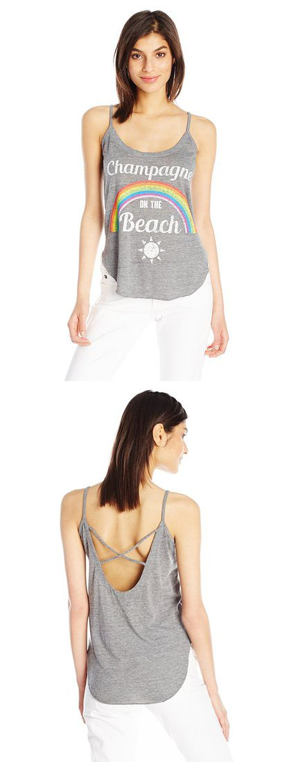 CHASER WOMEN'S CHAMPAGNE BEACH T-SHIRT------ Sizes Available: X-Small,Small, Medium and Large---------- Color : Grey ---------- 50% Polyester, 38% Rayon, 12% Cotton---------- Trebled cami---------- Tank top---------- Cool,Cute, Basic T Shirts Suitable for Casual and Party Wears in Summer/Spring 2016 ---------- Great for Gifts-----------