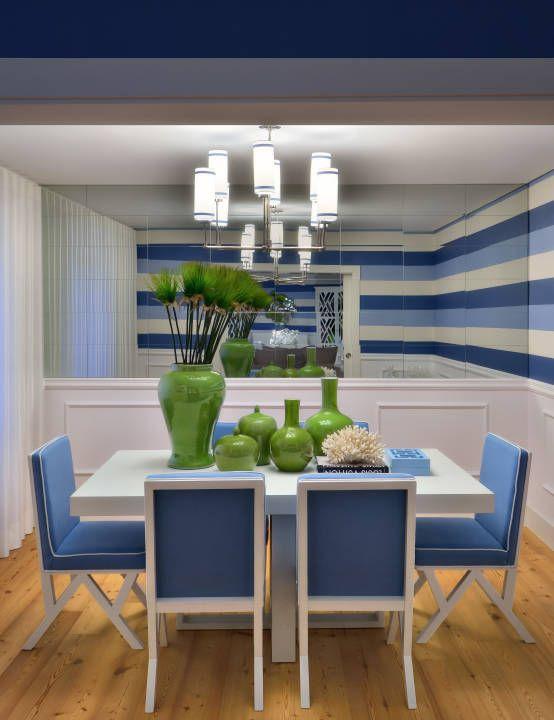 Stripes : Salas de jantar modernas por Prego Sem Estopa by Ana Cordeiro