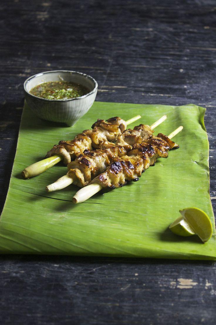 Sticks med kylling og citrongræs // Sticks with chicken and lemon grass