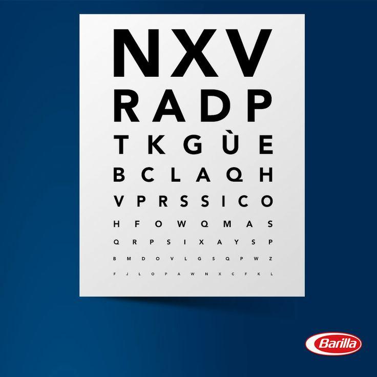 Forse qualcuno ha bisogno degli occhiali! #èBarillaesivede