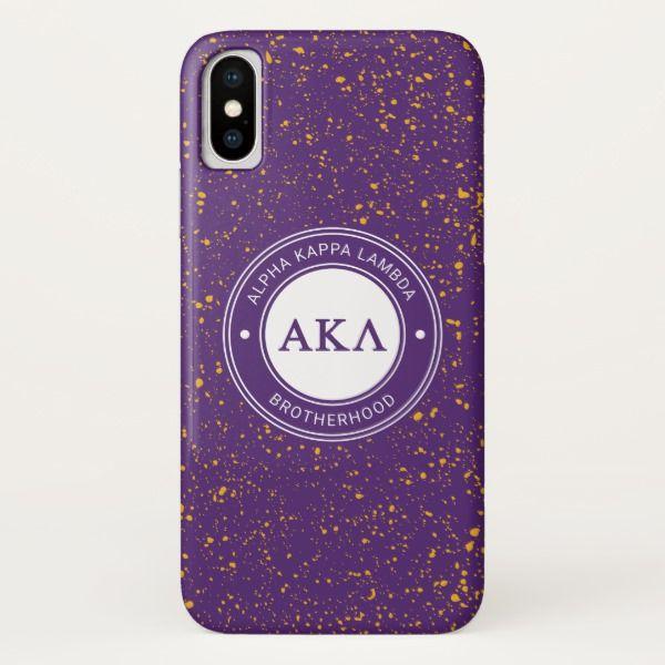 Alpha Kappa Lambda | Badge iPhone X Case Custom Brandable Electronics Gifts for your buniness #electronics #logo #brand