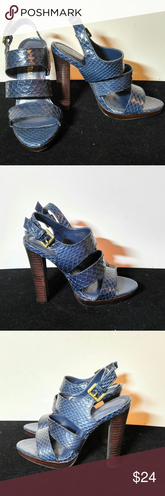 Sale!!! Victoria Secret Colin Stuart Heels Sz 6 M Victoria Secret Colin Stuart Heels Sz 6 M - These heels are in EXCELLENT condition, color is a dark blue. Heel is 5 inches Colin Stuart Shoes Heels