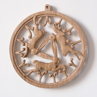 Three Hares - woodcarving by Nick Hunter