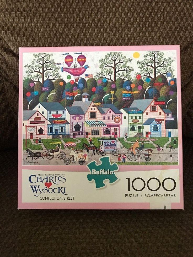 Charles Wysocki Jigsaw Puzzle 1000 Pc.  Confection Street  New Buffalo Games