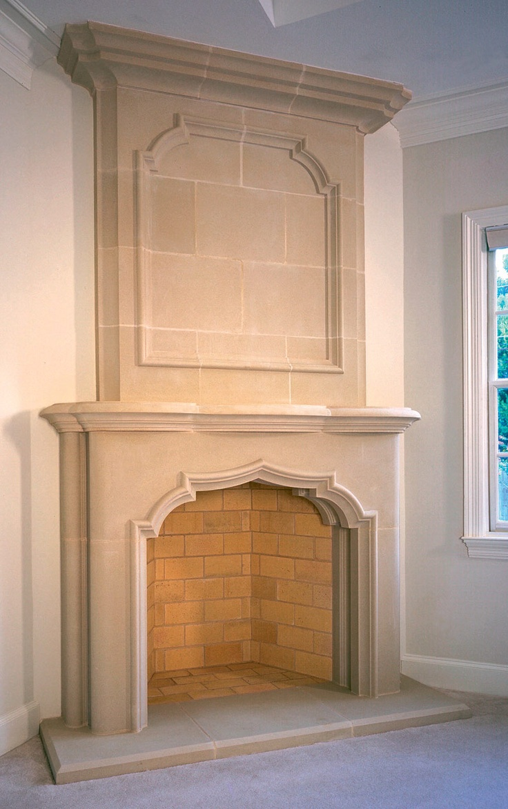 Stone fireplace designs and remodel pictures to pin on pinterest - Cast Stone Overmantel 8 Shown With Avalon Cast_stone Overmantel Fireplace